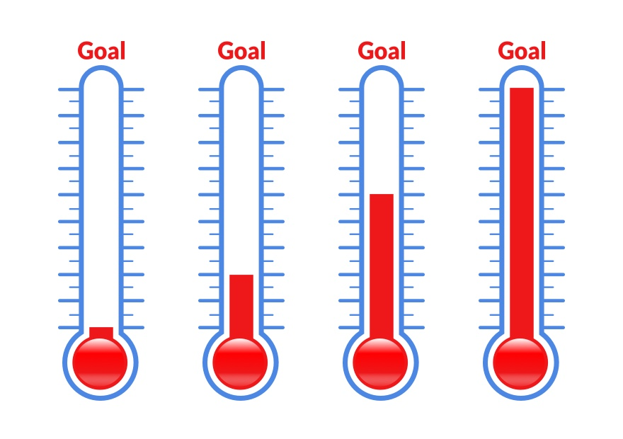 Fundraising Thermometer Goal, Fundraising Thermometer