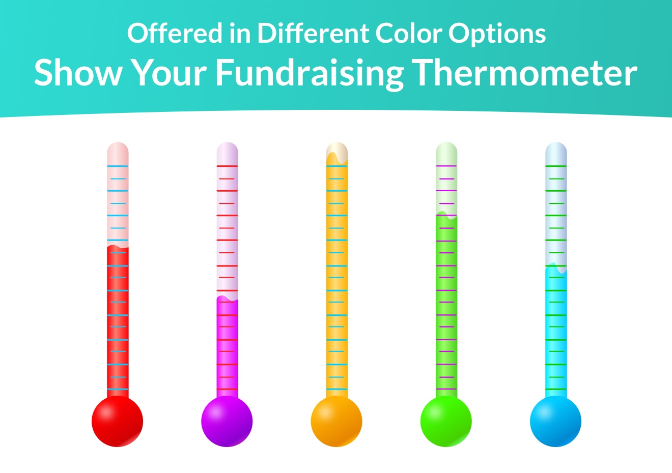 Fundraising Thermometers, Donation Thermometer